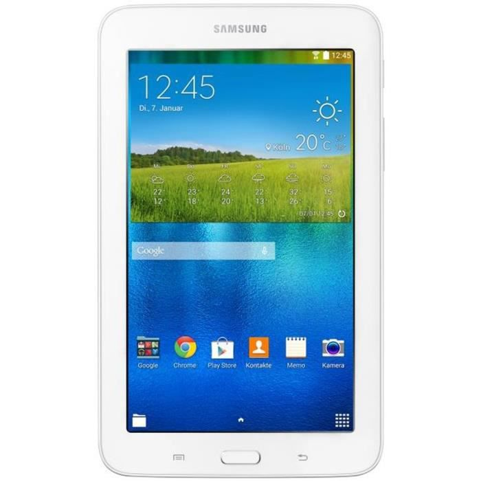 Samsung galaxy t113n tab3 7 7 0 lite wifi blanc prix for Sm t580nzkaxef