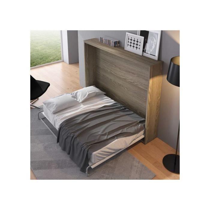 Lit armoire horizontal c leste 140 x 190 personnalisable for Armoire et lit adulte