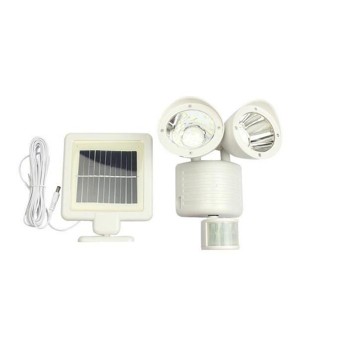 Stoex 22 led solaire pir lampe de s curit d tecteur de mouvement lumi re crue pour jardin for Lampe de jardin detecteur de mouvement