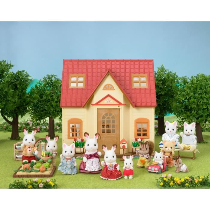 sylvanian families 5242 set cosy cottage achat vente figurine personnage cdiscount. Black Bedroom Furniture Sets. Home Design Ideas