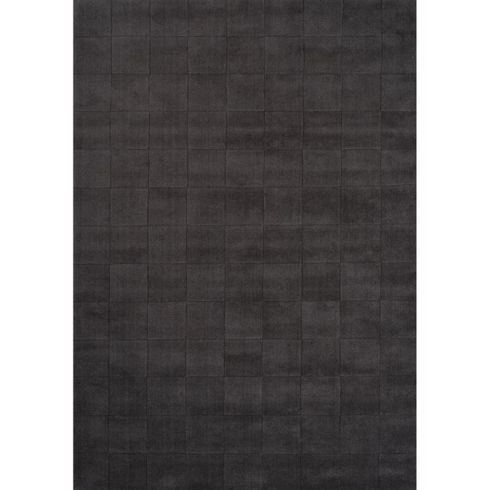tapis pour salon uni luzern gris 140x200 par unamourdetapis tapis moderne achat vente. Black Bedroom Furniture Sets. Home Design Ideas