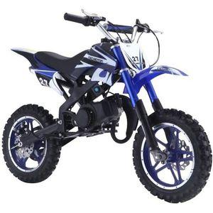 moto Dirt Bike 50 cc 2 Temps DB10SA Bleu - Moto enfant