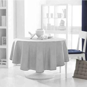 Nappe ronde grise achat vente nappe ronde grise pas cher cdiscount - Table ronde 180 cm diametre ...