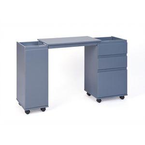 Meuble de rangement gris achat vente meuble de for Petit meuble blanc et gris