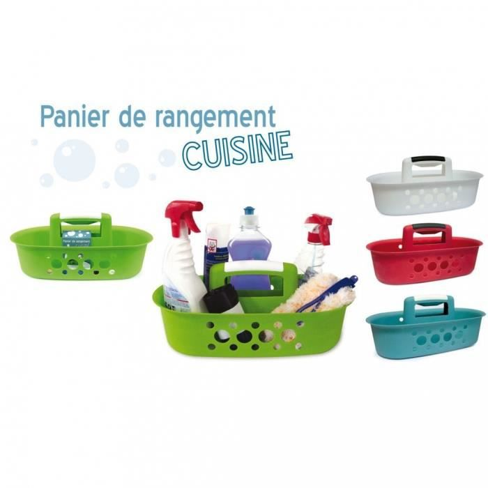 Panier de rangement cuisine bleu achat vente corbeille for Panier rangement cuisine