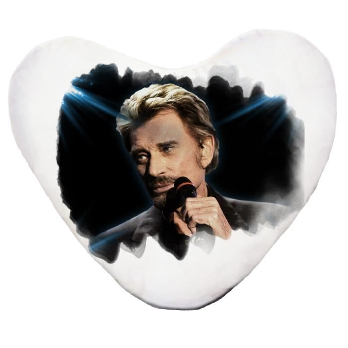 Coussin coeur johnny hallyday achat vente coussin cdiscount - Housse de couette johnny hallyday ...