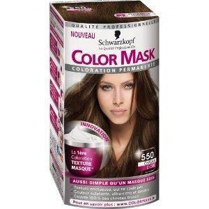 coloration coloration permanente color mask 550 chatain dor - Coloration Permanente