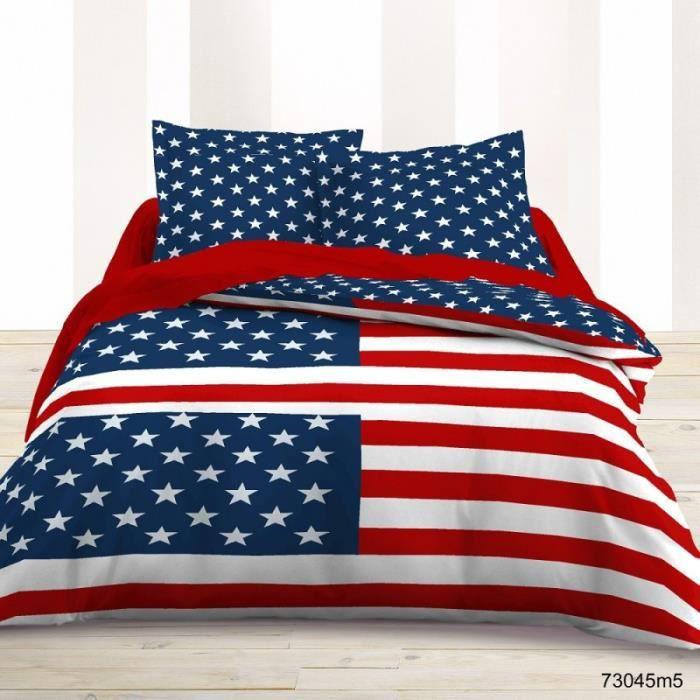 Housse de couette american us en coton 240x220 cm 2 for Housse de couette americaine