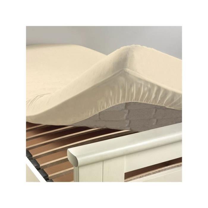 Drap housse 90 x 190 cm sable coquille v ritable bonnets for Drap housse 40 x 90