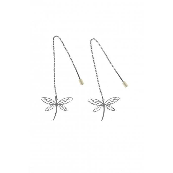 boucles d 39 oreille pendantes design longue perle noire. Black Bedroom Furniture Sets. Home Design Ideas