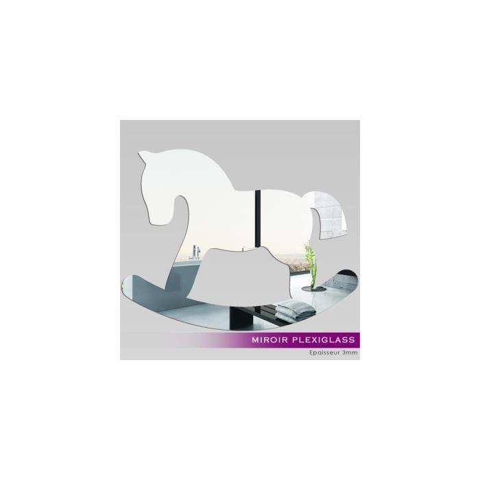 Miroir plexiglass acrylique cheval bascule ref mir for Miroir acrylique