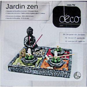 Jardin zen d int rieur carre 17 l ments bougie achat for Jardin zen interieur