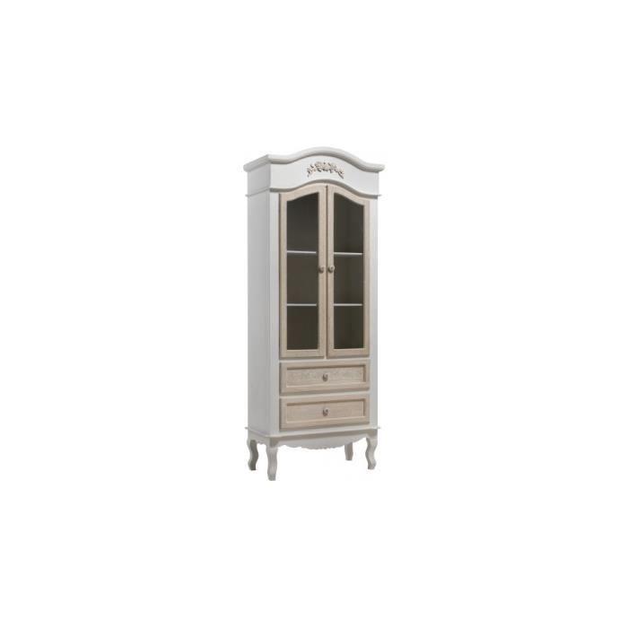 Vitrine 2 tiroirs et 2 portes pieds galb s argento for Porte patio 8 pieds