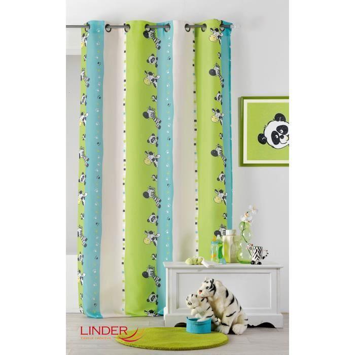 Rideau pour enfant imprim s z bre multicolore 130 x 260 cm achat vente rideau les soldes - Rideau chambre garcon ...
