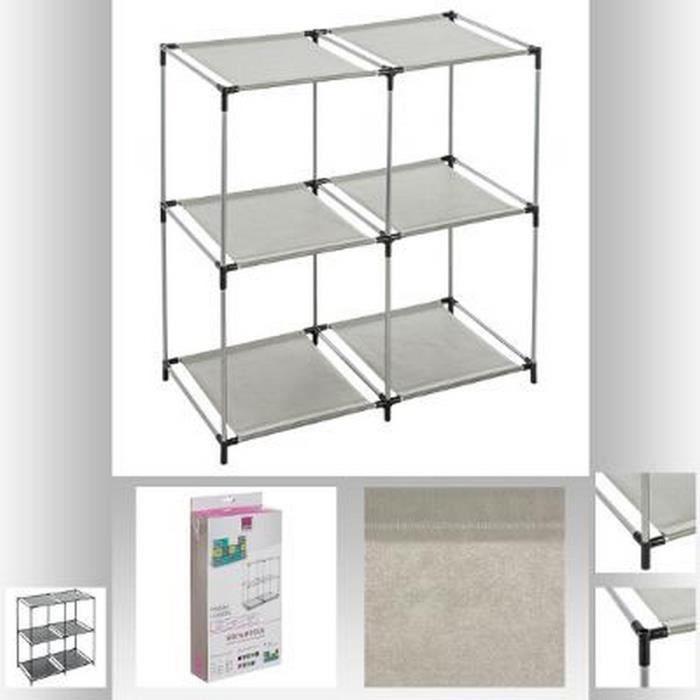 Cube 4 casiers achat vente petit meuble rangement cube for Petit meuble casier rangement