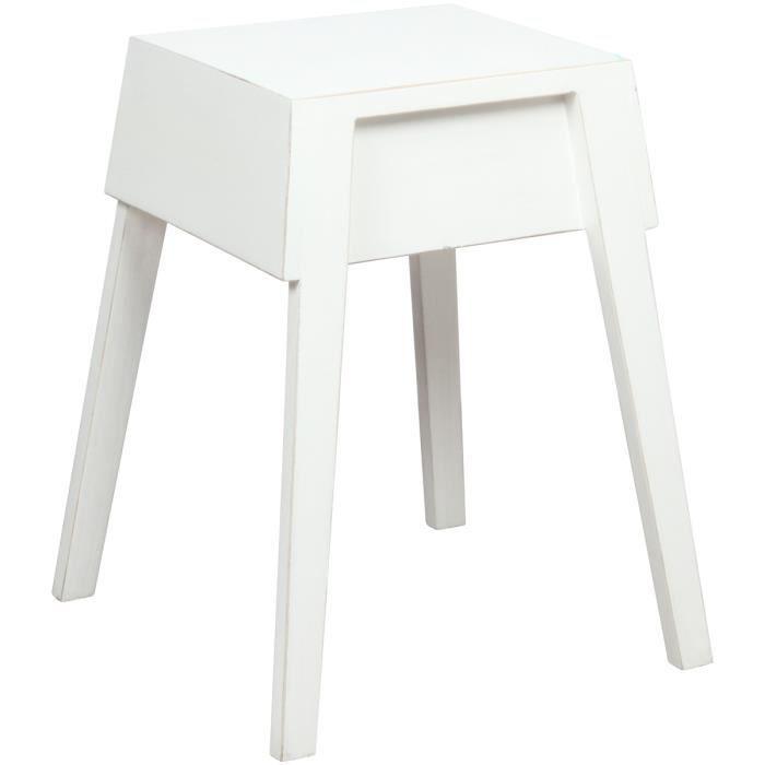 tabouret sellette en bois laqu blanc achat vente tabouret blanc soldes d hiver d s le 6. Black Bedroom Furniture Sets. Home Design Ideas