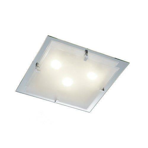 trio leuchten 601100300 plafonnier avec plaque de verre 3. Black Bedroom Furniture Sets. Home Design Ideas