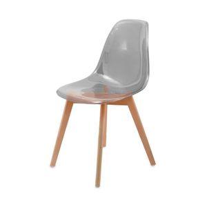 chaises transparentes et bois achat vente chaises transparentes et bois pas cher cdiscount. Black Bedroom Furniture Sets. Home Design Ideas