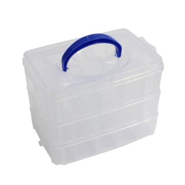 Boite De Rangement Organiseur En Plastique Transparent 3 Tages Pour Loisir Cr Atifs Achat