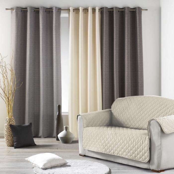 prot ge canap 3 places 279x179 cm naturel achat vente housse de canape cdiscount. Black Bedroom Furniture Sets. Home Design Ideas