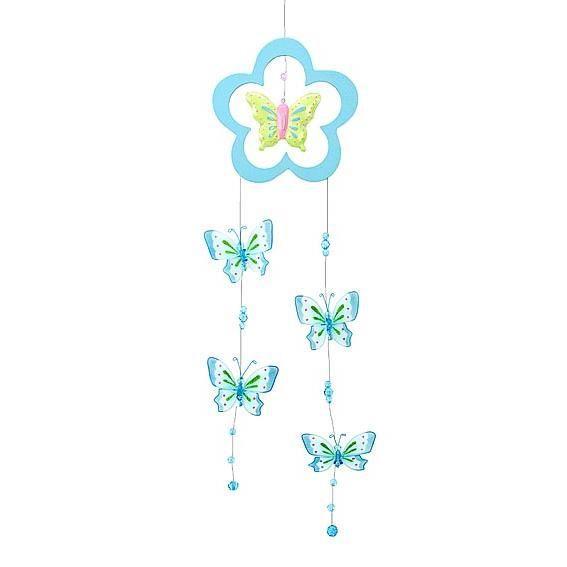 jolie d coration mobile avec papillons pour cha achat. Black Bedroom Furniture Sets. Home Design Ideas
