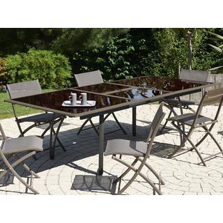 Table De Jardin Tendance Rallonge 180 240x110x73cm
