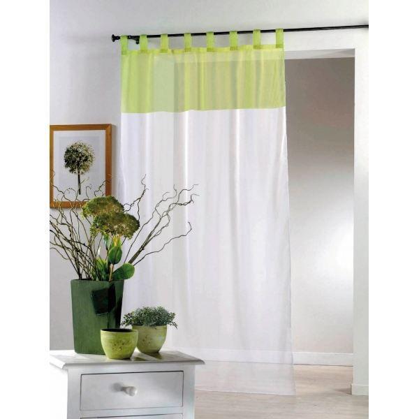 panneau passant 140x240cm voile bicolore amande achat vente rideau voilage panneau passant. Black Bedroom Furniture Sets. Home Design Ideas