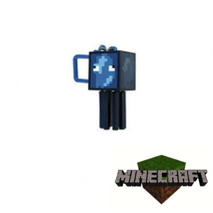 Porte clef articul figurine minecraft poulpe achat for Porte and minecraft