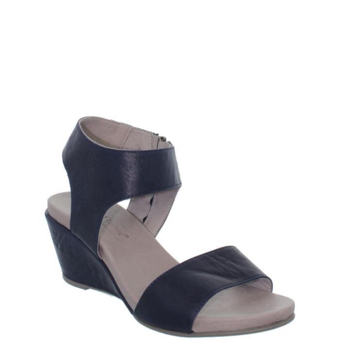 sandales talon compens lune et l 39 autre ref ten36931 marine marine achat vente sandale. Black Bedroom Furniture Sets. Home Design Ideas