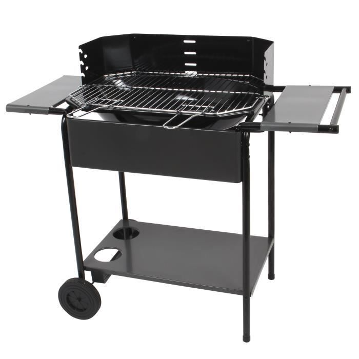 port camargue barbecue avec chariot achat vente barbecue barbecue acier chariot cdiscount. Black Bedroom Furniture Sets. Home Design Ideas