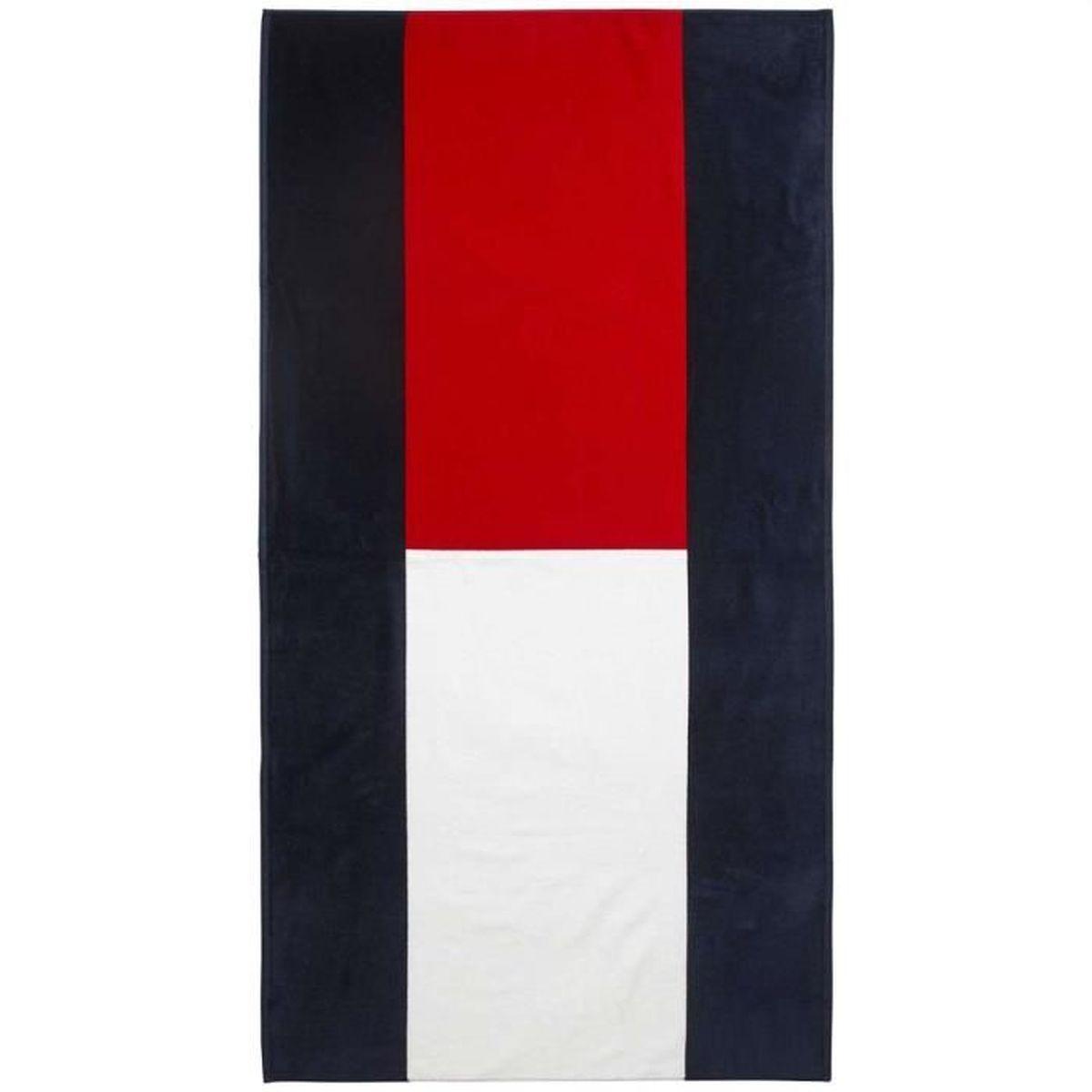 tommy hilfiger drap de plage unisexe multicolor uni achat vente serviette de plage les. Black Bedroom Furniture Sets. Home Design Ideas