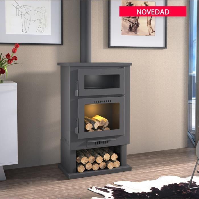 ch 3 po le bois en acier avec four achat vente po le insert foyer ch 3 po le bois en. Black Bedroom Furniture Sets. Home Design Ideas