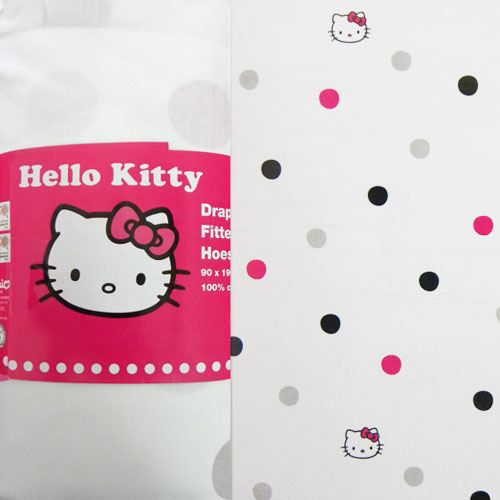 Drap housse hello kitty strass 2 places achat vente - Drap housse 70x140 hello kitty ...