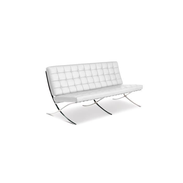 Canap barcelona inspir mies van der rohe 3 plac achat vente canap s - Canape barcelona mies van der rohe ...