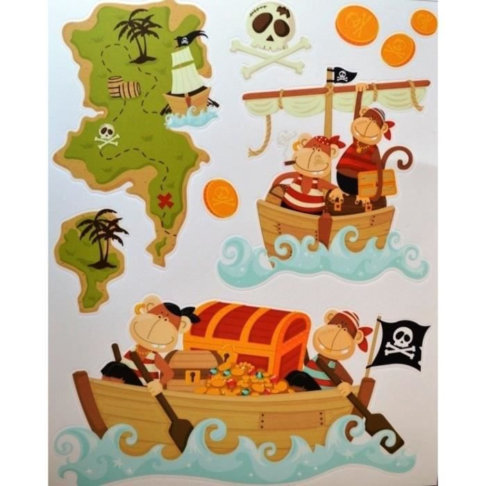 Stickers chasse au tr sor achat vente stickers cdiscount for Decoration maison chasse