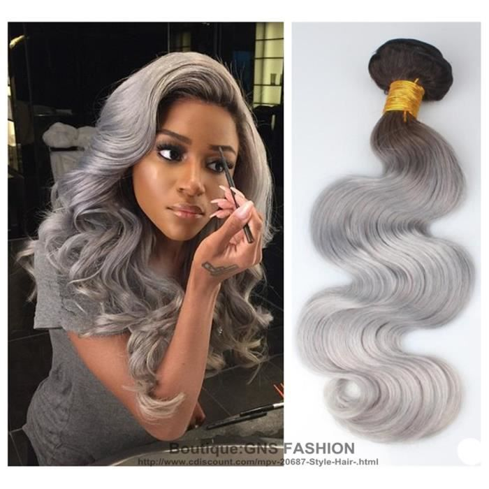 Gns fashion tissage tie and dye 1b grey bresiliens remy for Tie and dye prix salon
