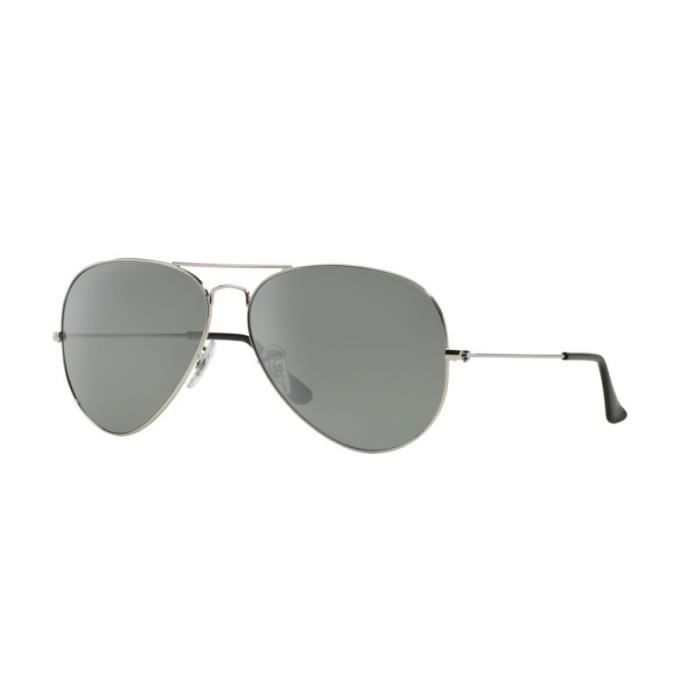 Ray Ban Aviator Homme Argent