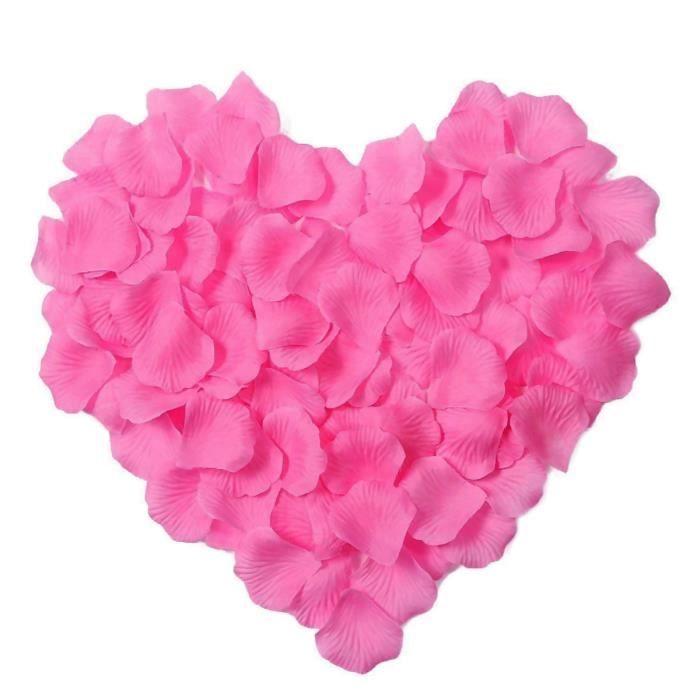 savfy 1000 pcs rose p tales de rose fleur en tissu p tale d coration pour soir e mariage f te. Black Bedroom Furniture Sets. Home Design Ideas