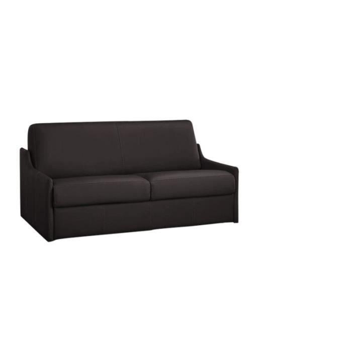 canap convertible luna cuir recycl marron 120cm achat vente canap sofa divan cuir. Black Bedroom Furniture Sets. Home Design Ideas