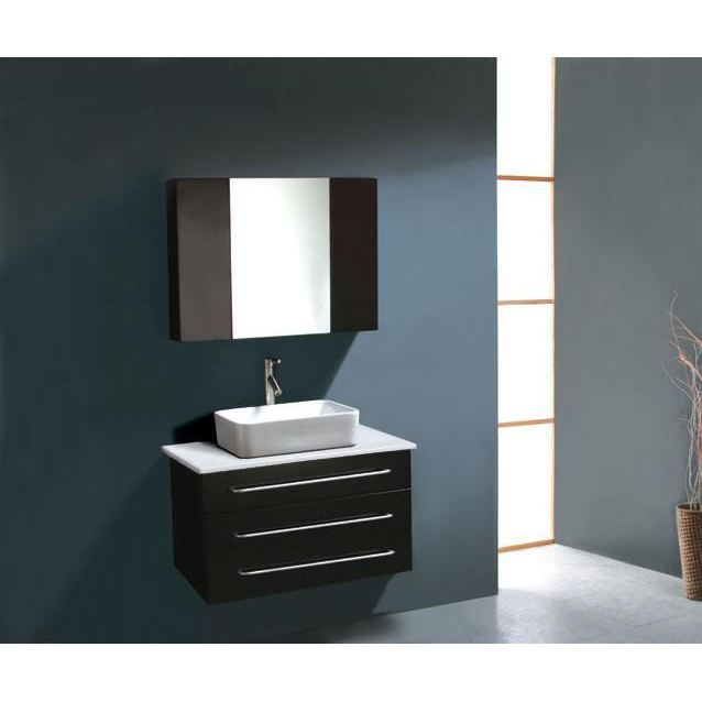 Meuble salle de bain avec miroir en bois ch ne achat - Meuble de salle de bain avec meuble de cuisine ...