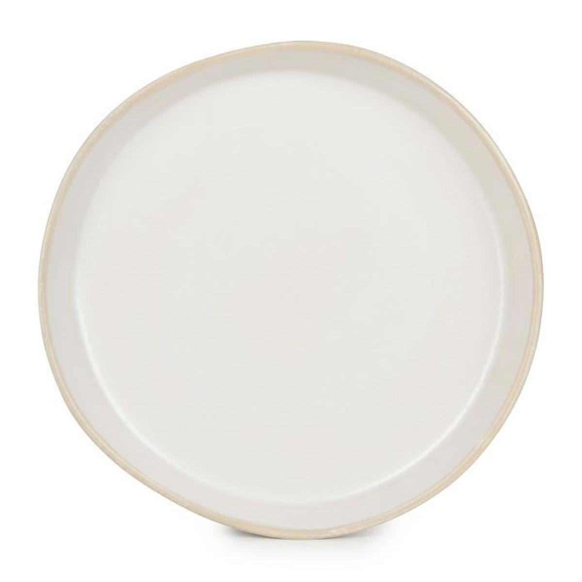 Gamra assiette dessert en fa ence blanche d20cm achat for Achat faience