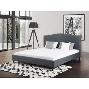 lit adulte 140x200 avec sommier achat vente lit adulte 140x200 avec sommier pas cher cdiscount. Black Bedroom Furniture Sets. Home Design Ideas