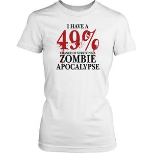 T-SHIRT Femmes t-shirt DTG Print - Zombie Apocolypse 49% -