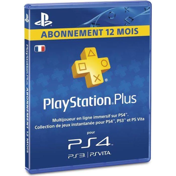 abonnement playstation plus 12 mois psvita ps3 ps4 achat vente abonnement abonnement