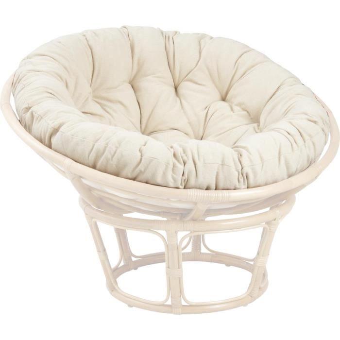 coussin pour fauteuil papasan achat vente fauteuil cdiscount. Black Bedroom Furniture Sets. Home Design Ideas