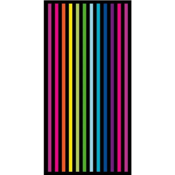 drap de plage serviette de bain fun fluo lignes m3 achat. Black Bedroom Furniture Sets. Home Design Ideas