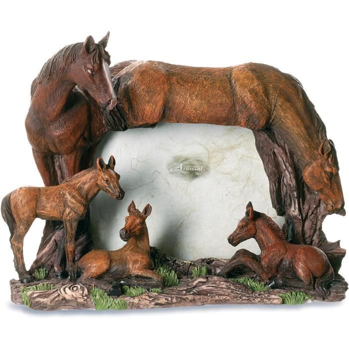 cadre photo figurine statuette famille chevaux achat. Black Bedroom Furniture Sets. Home Design Ideas