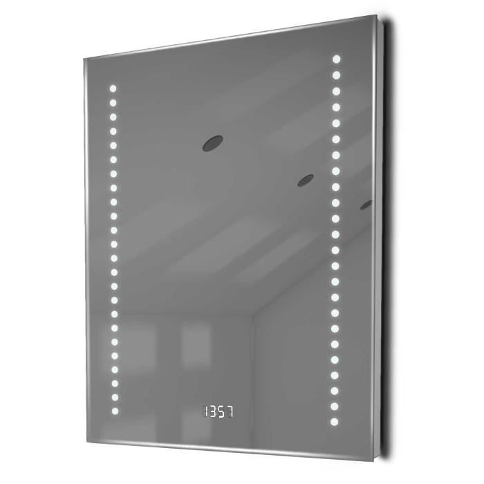 Miroir salle de bain horloge capteur k189 antibu e for Taille d une salle de bain