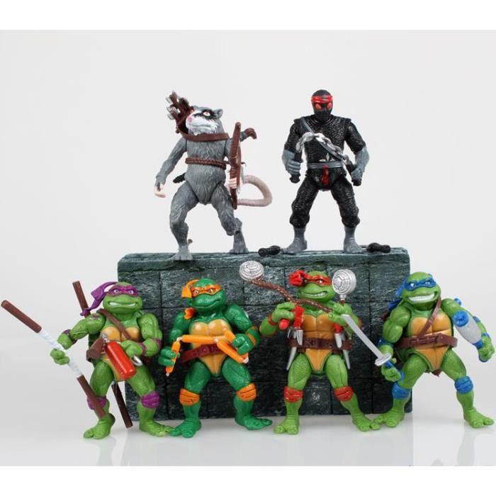 Figurine mutant tmnt tortue ninja teenage 6 pcs set - Tortue ninja couleur ...