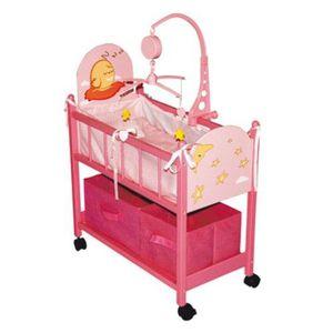 yizi 2022a lit en bois avec rangements rose achat vente accessoire poupon cdiscount. Black Bedroom Furniture Sets. Home Design Ideas